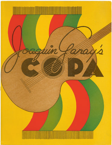 Joaquin Garay's Copa, San Francisco, 1950s Menu Art
