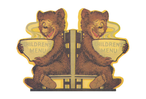 Union Pacfic Children's Menu 1940s Yellowstone Special