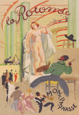 La Rotonde, Paris 1927 Menu Art