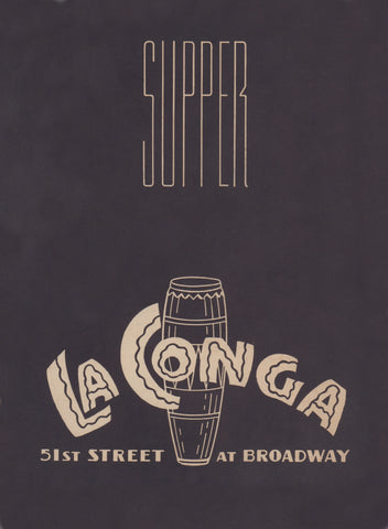 La Conga, New York 1950s Menu Art