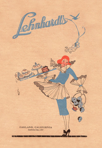 Lenhardt's, Oakland 1920 Menu Art