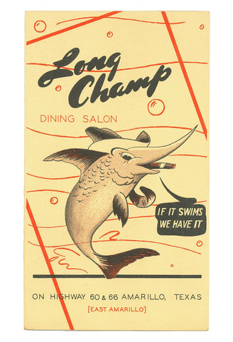 Long Champ Dining Salon, Amarillo, Texas, 1948