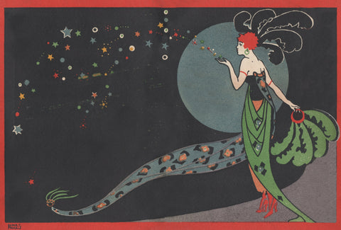 J Lyons Popular State Cafe, Manchester, New Year's Eve 1920 Menu Art