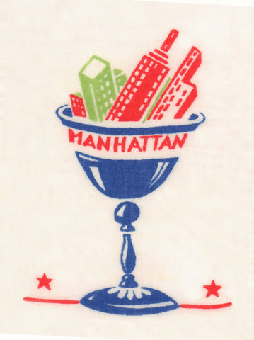 Manhattan Cocktail Napkin 1940s