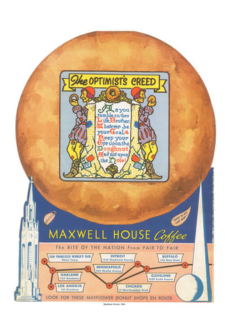 Mayflower Donuts The Optimist's Creed Vintage Menu Cover