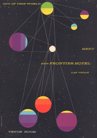 Venus Room, New Frontier Hotel, Las Vegas, Saul Bass Menu Art 1956