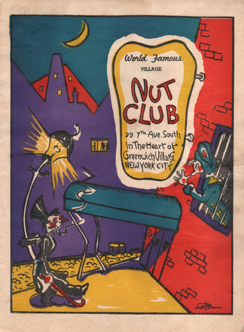 Nut Club, New York 1943 Menu Art