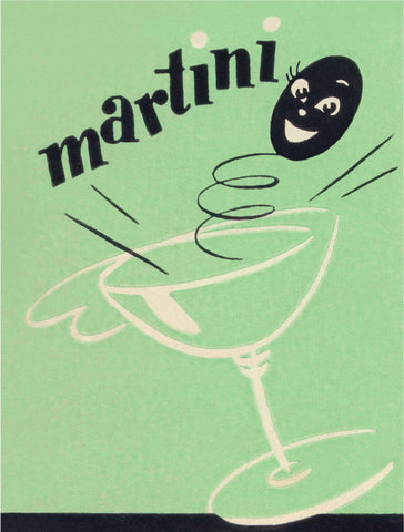 Martini Olive Detail from Mark Twain Hotel, Hannibal MO, 1950s