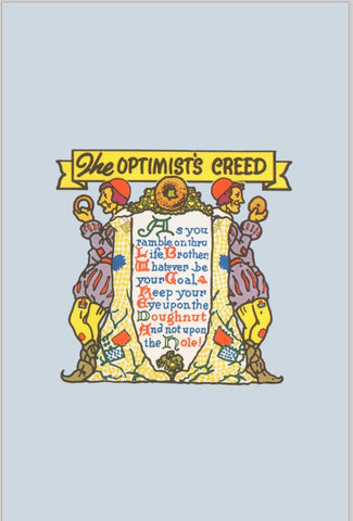 The Optimist's Creed 1939 100% Cotton Kitchen Towel