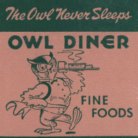 Owl Diner, Clearwater 1948 Diner Menu Art