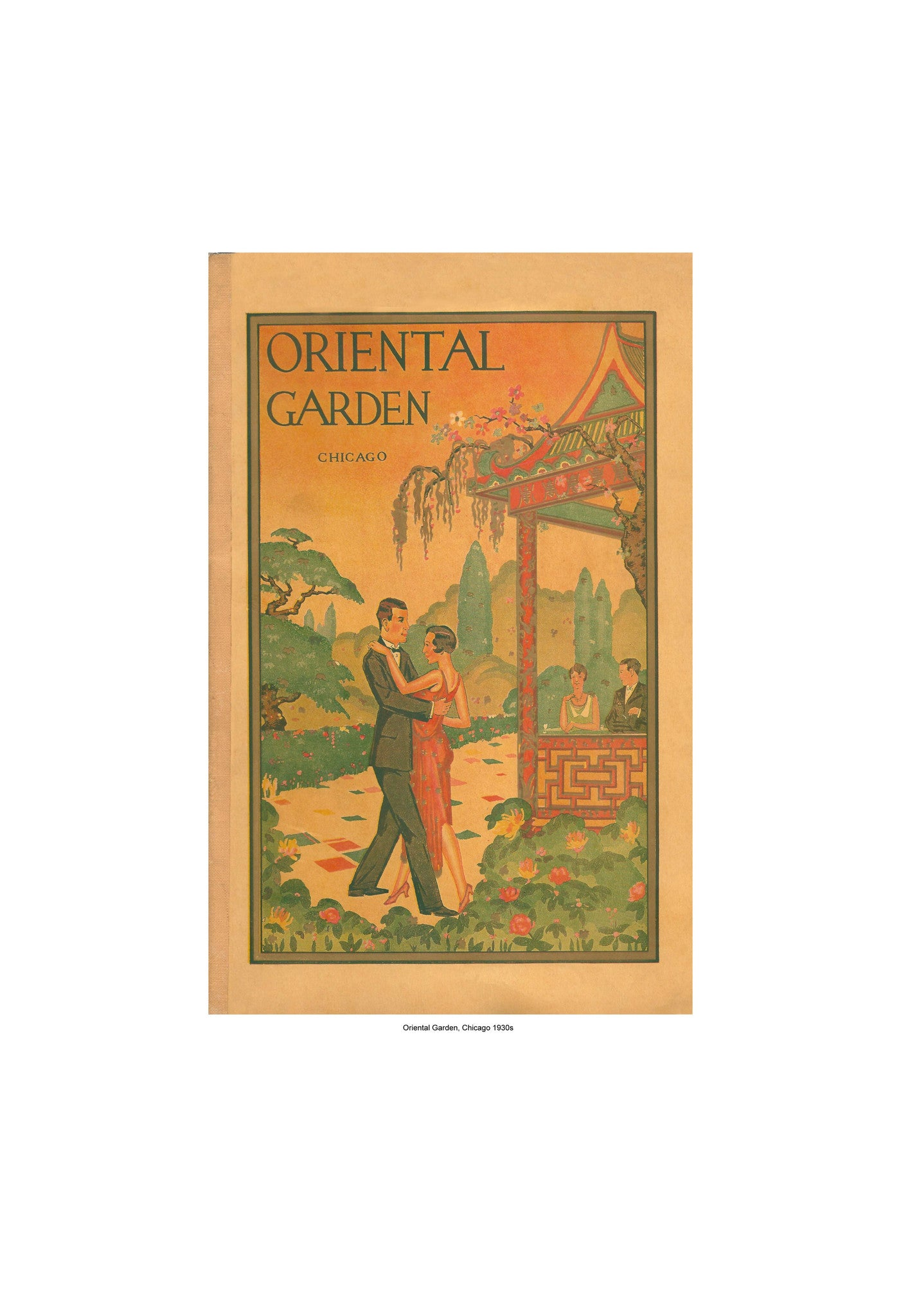 oriental garden chicago 1930s vintage menu oriental garden chicago 1930s harley spiller collection cool culinaria - Oriental Garden Menu