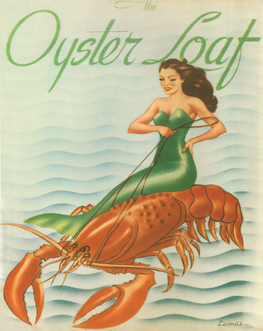 The Oyster Loaf, San Francisco, 1940s Cover Art
