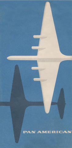 Pan American Clipper 1940s Menu Art