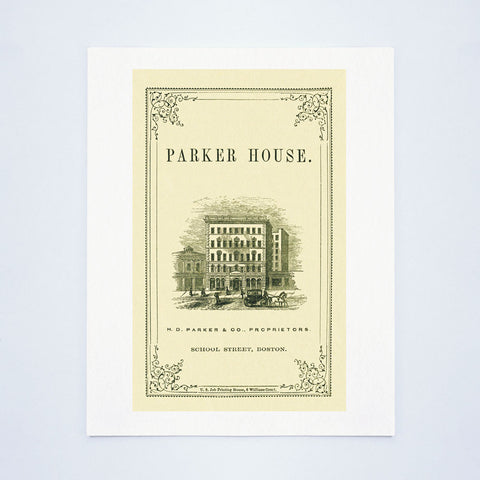 Parker House, Boston 1860