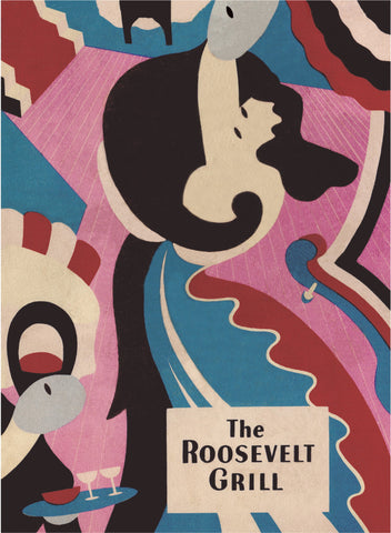 The Roosevelt Grill, New York 1948 Menu Art