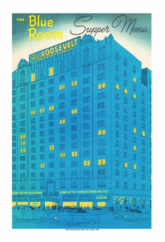 The Blue Room The Roosevelt Hotel New Orleans Vintage Menu 1952