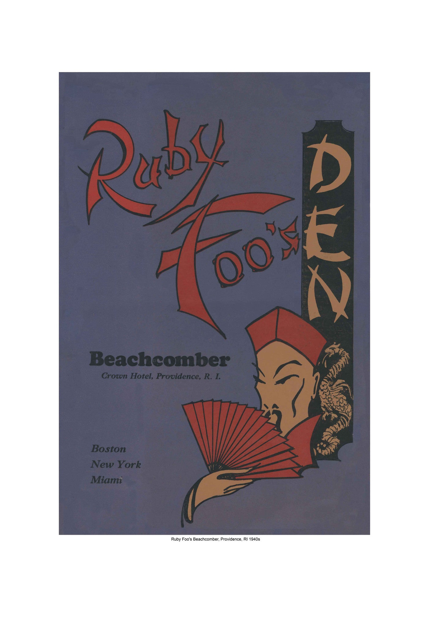 ... Ruby Foo's Beachcomber Providence RI 1940s Harley Spiller Collection Cool Culinaria