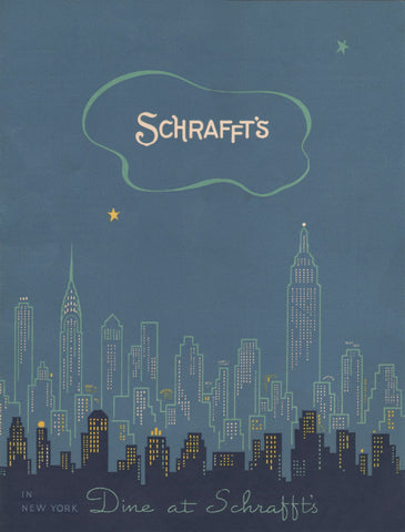 Schrafft's, New York 1939 Menu Art
