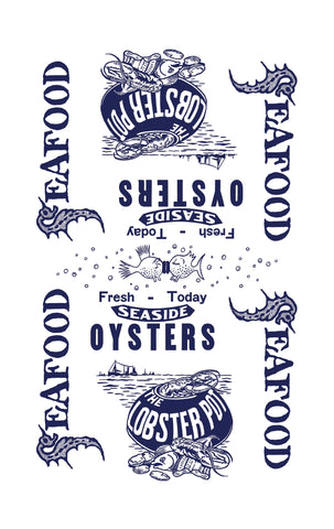 Seafood 100% Cotton Dish Towel