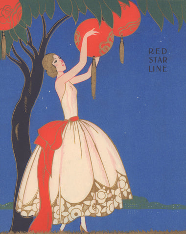 Red Star Line, S.S. Pennland 1931 Menu Art