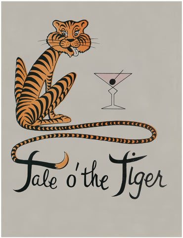 Tale o' the Tiger, Fort Lauderdale 1960s Menu Art
