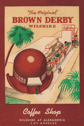 The Brown Derby Coffee Shop, Hollywood, 1957