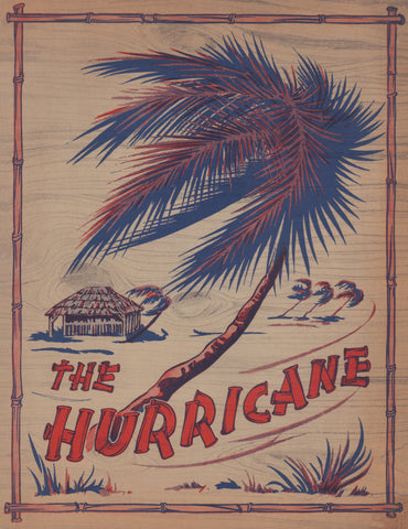 The Hurricane Nightclub 2, New York, 1940s Menu Art