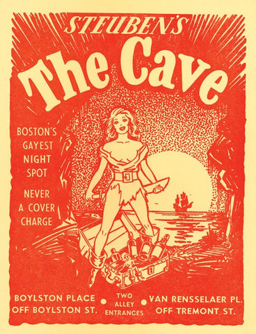 Steuben's The Cave, Boston, 1950s