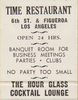 Time Restaurant, Los Angeles 1940s