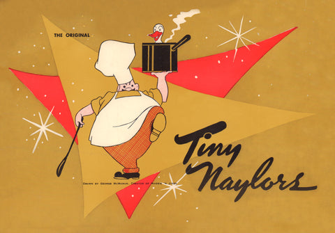Tiny Naylors, Los Angeles 1963 Menu Art