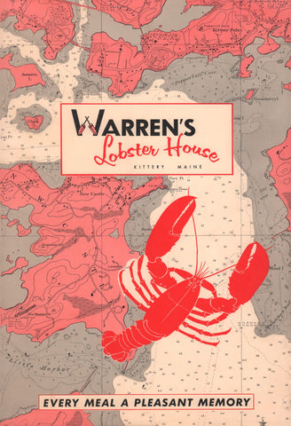 Warren's of Kittery, Maine, 1960s Menu Art
