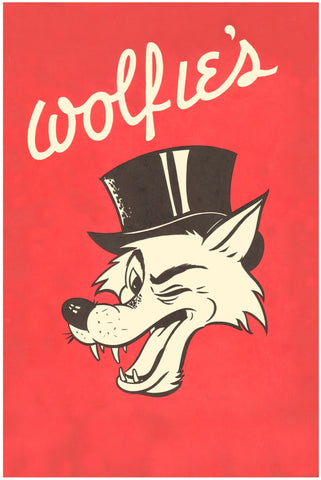 Wolfie's Fort Lauderdale, 1950s Menu Art