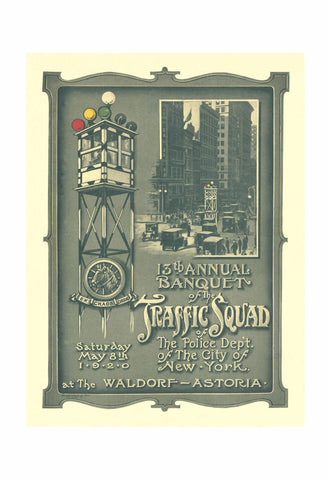 Waldorf-Astoria Hotel 'Police Traffic Squad' New York City 1920
