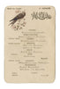 Café de Paris (Bird), Buenos Aires, June 1888 Vintage French menu