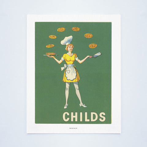 Childs, New York, 1951 Vintage Menu