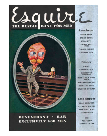 Esquire Restaurant For Men Penn Harris Hotel Harrisburg 1930s