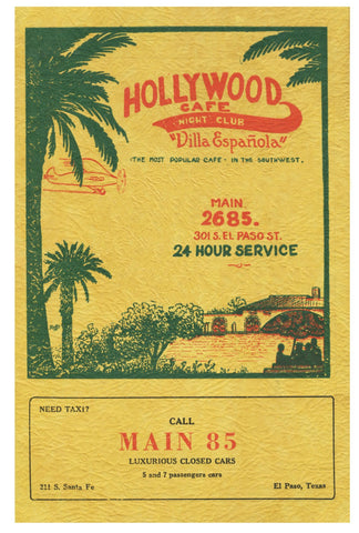 Hollywood Café, El Paso, Texas, 1933