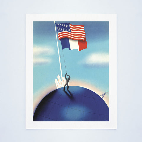 New York World's Fair 'Le Restaurant Francais' (Flags) 1940