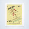 Shrimp in Shorts, St Regis Restaurant, New Orleans, 1950s Vintage Menu Art