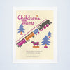 Southern Pacific Railroad Children's Menu 1930s