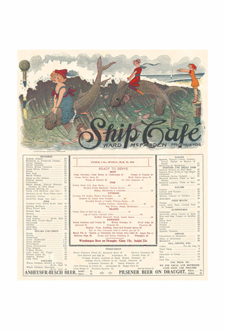 Ship's Café Venice California 1913 Henry B Voigt Collection