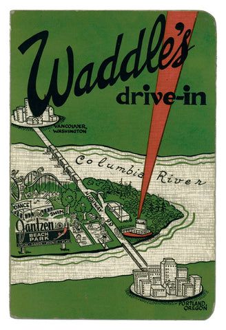 Waddle's Drive-In, Portland, Oregon, 1949 Menu Art