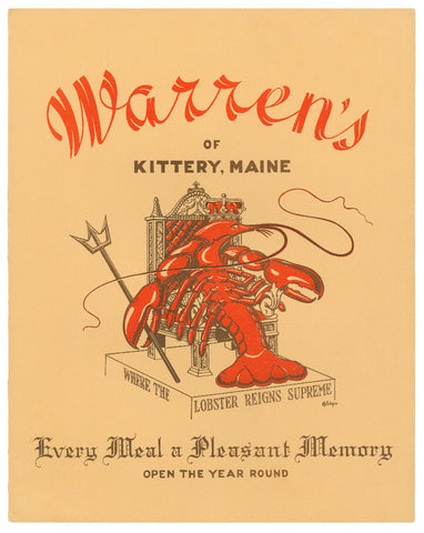 WARREN'S OF KITTERY MAINE 1950S