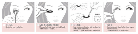 how to tutorials false eyelash beauty krew 3d mink eyelashes