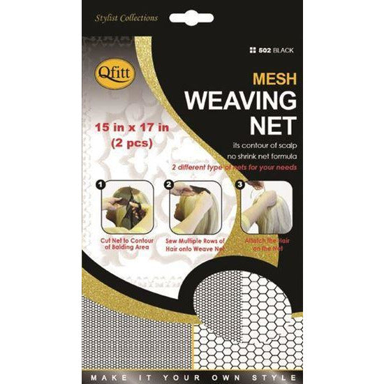 Qfitt Mesh Weaving Net #502 - Black - Beauty Krew
