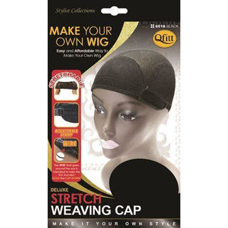 Qfitt Deluxe Stretch Weaving Cap #5018 - Black - Beauty Krew