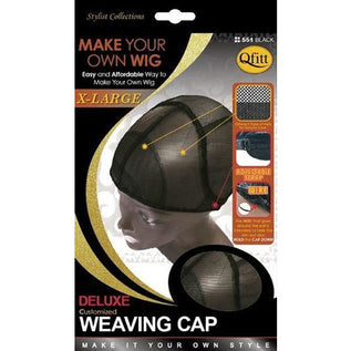 Qfitt X-Large Deluxe Weaving Cap #551 - Black - Beauty Krew