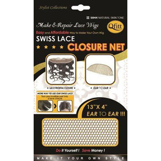 Qfitt Swiss Lace Closure Net 4x4 #5043 - Natural Skin Tone - Beauty Krew
