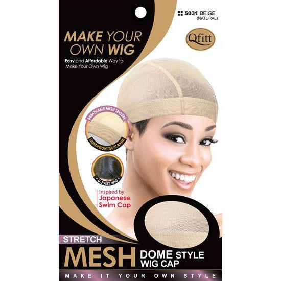 Qfitt Stretch Mesh Dome Style Wig Cap #5031 - Natural - Beauty Krew