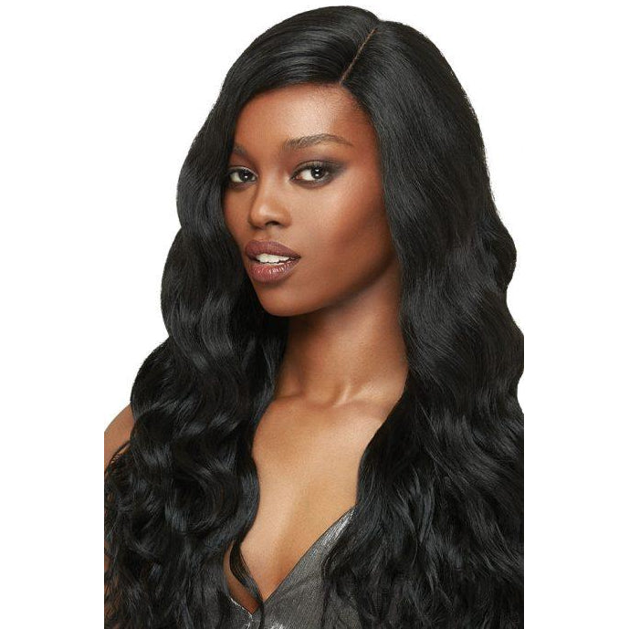 "OUTRE SYNTHETIC HAIR LACE FRONT WIG BRAZILIAN BOUTIQUE 4"" DEEP FREE PART LACE WIG BODY - Beauty Krew"